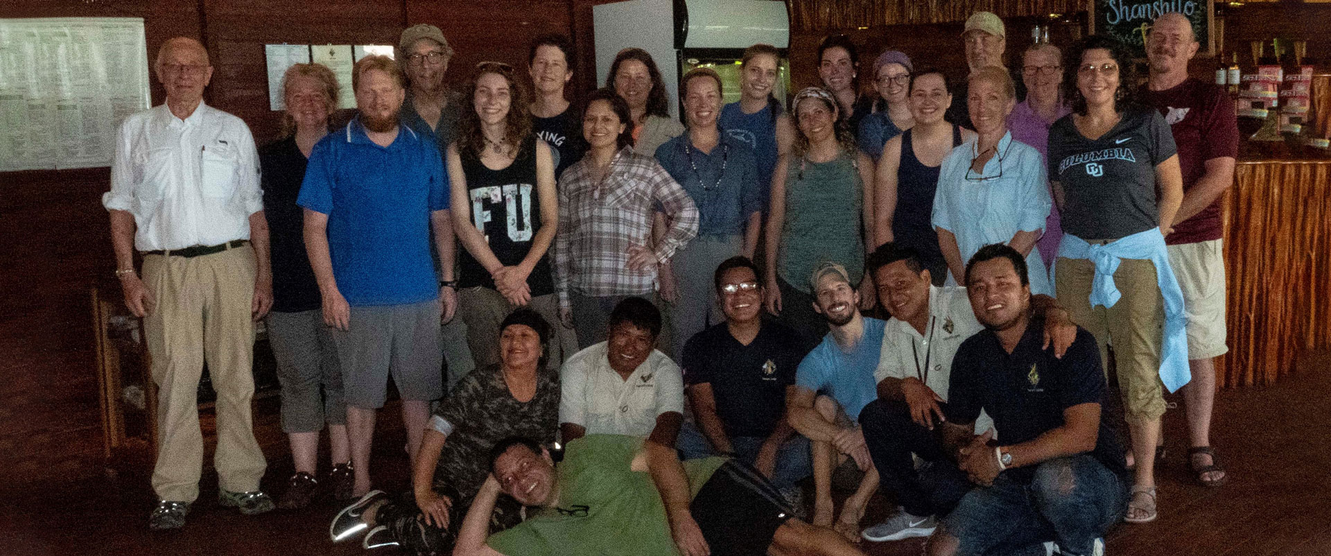 Group photo of researchers at the Tahuayo Lodge